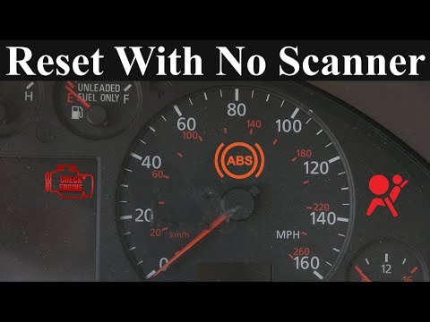 How to Reset the Check Engine. ABS and Airbag Light - Without a Scanner