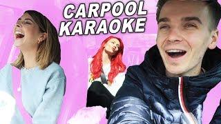 CARPOOL KARAOKE WITH SISTER & GIRLFRIEND!