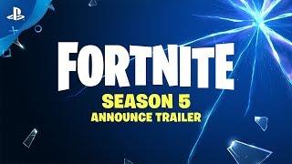 Fortnite - Season 5 Announce Trailer | PS4