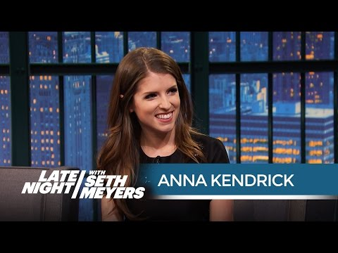 Anna Kendrick on Filming Pitch Perfect 2 with the Green Bay Packers - Late Night with Seth Meyers