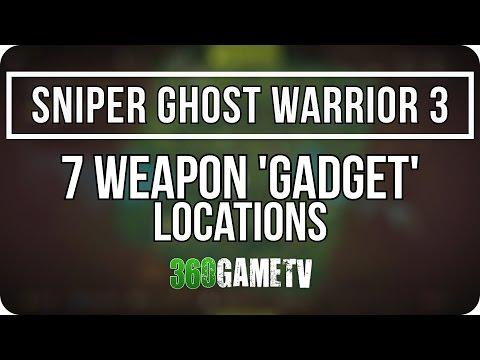 Sniper Ghost Warrior 3 - 7 Weapon Gadget Locations (RUS Optics, AKA-47 Accessories)