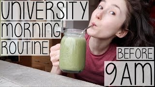 UNIVERSITY MORNING ROUTINE 2018 | HOW TO BE PRODUCTIVE BEFORE LECTURES