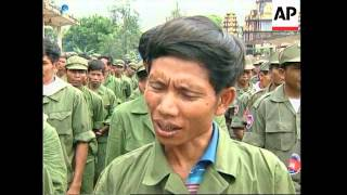 CAMBODIA: FORMER KHMER ROUGE SOLDIERS REINTEGRATED BACK INTO ARMY