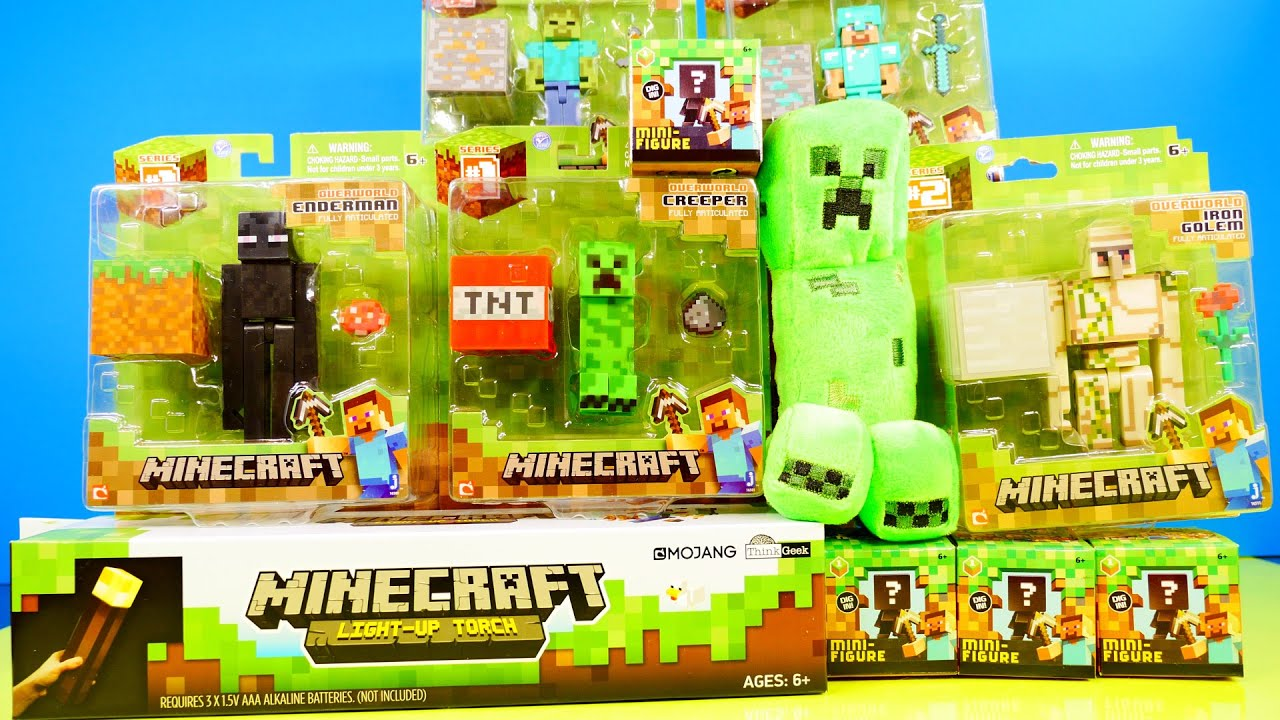 Minecraft Toy Sets Minecraft Toys Super Unboxing