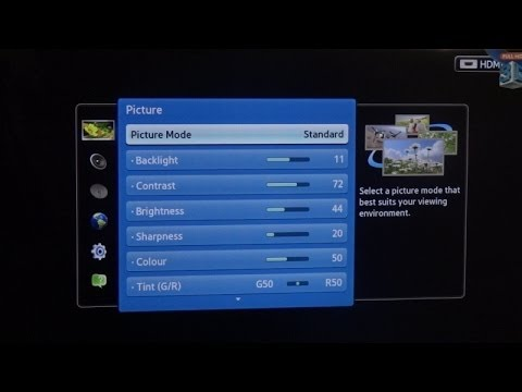 Samsung led tv picture settings and calibration youtube