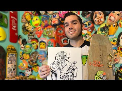 HOW SKATEBOARD ART GETS MADE w/ Live Rad! SCREAMING VLOG 20 | Santa Cruz Skateboards