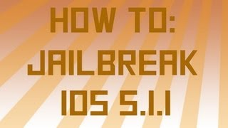 How To_ Jailbreak iOS 5.1.1 on iPod Touch 3/4 iPhone 3gs/4 and iPad