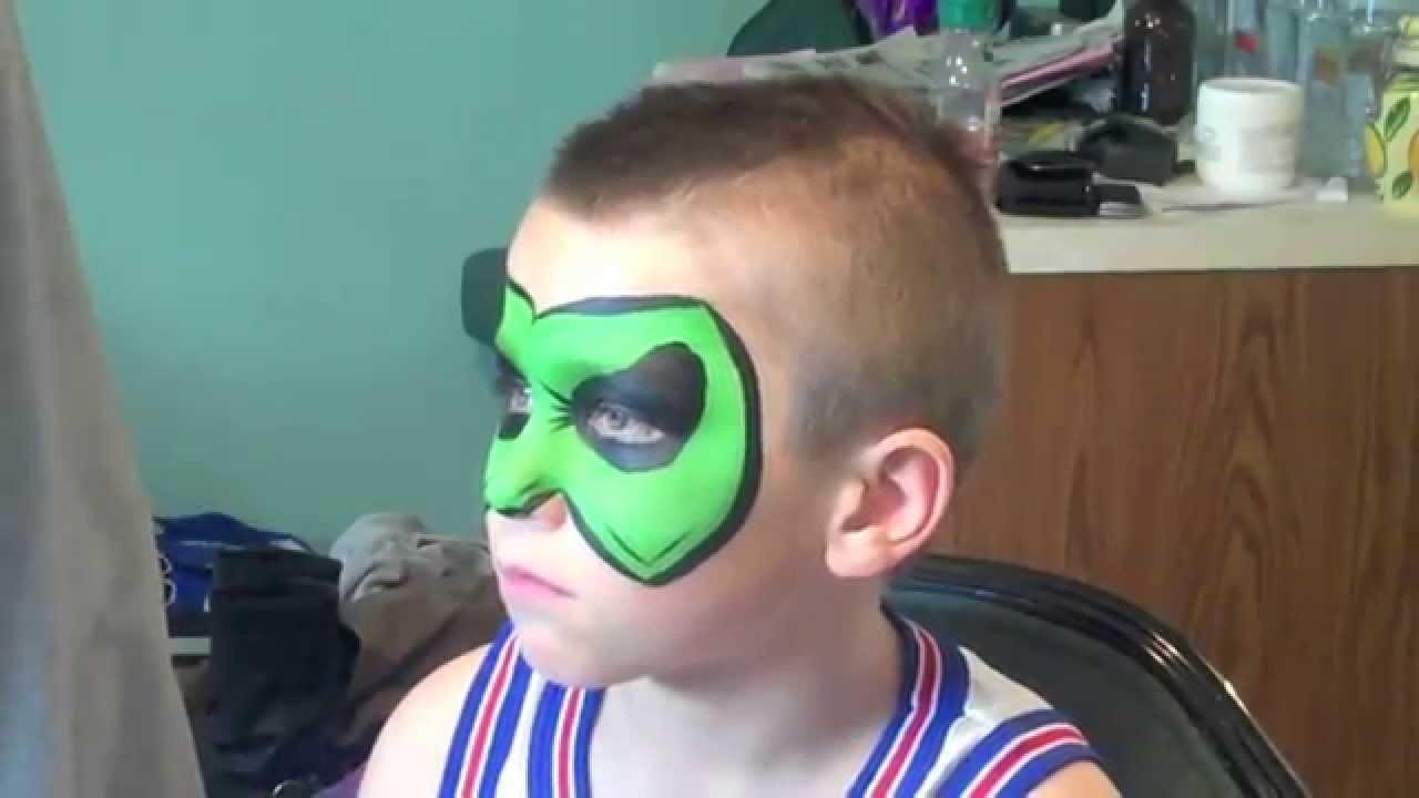 Green Lantern Face Paint Green Lantern Face Painting