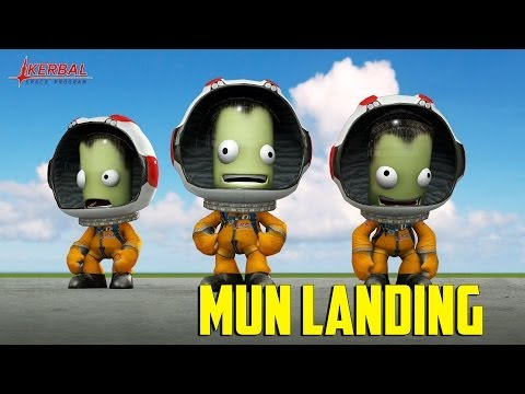 Kerbal Space Program -  Livestream Mun Landing