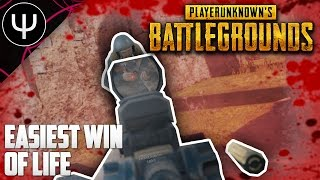 PLAYERUNKNOWN'S BATTLEGROUNDS — Easiest WIN of LIFE!