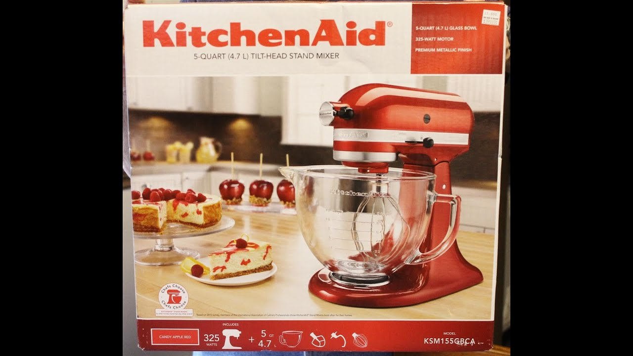 Kitchenaid artisan design series stand mixer box opening youtube