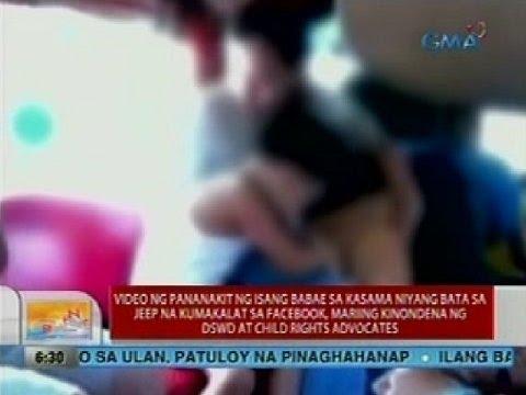 Video ng pananakit ng isang babae sa kasama niyang bata sa jeep