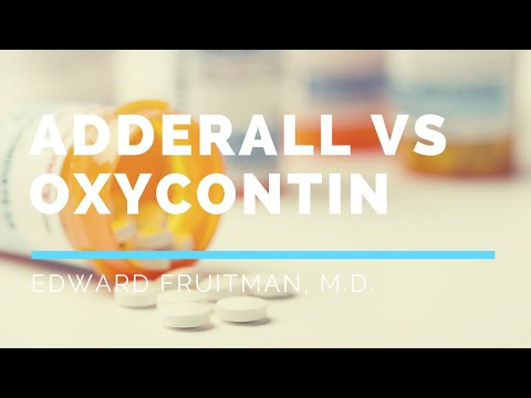 0 Addiction of stimulants: Adderall vs Oxycontin