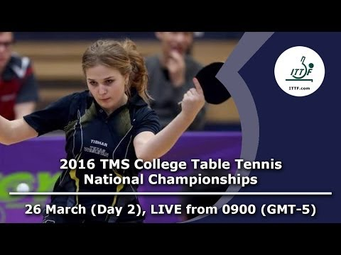 2016 TMS College Table Tennis National Championships - Day 2, Table 2