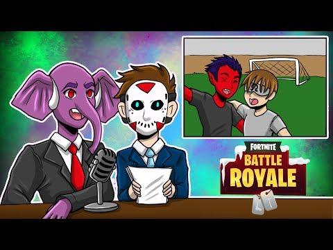"""The Soccer Showdown""   Fortnite Battle Royale   w CaRtOoNz, H2ODelirious, Ohmwrecker"
