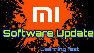 Xiaomi Redmi Software update