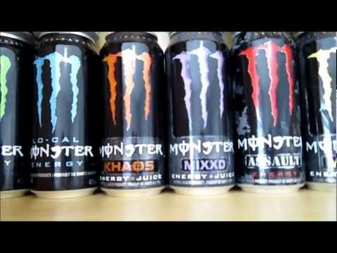 MONSTER ENERGY DRINK CAN COLLECTION (32 DIFFERENT CANS!)