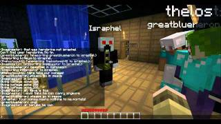Israphel visits our Minecraft server!