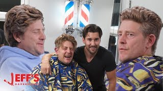 DAD FREAKS OUT ABOUT NEW HAIRCUT - Jason Nash | Jeff's Barbershop