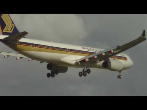Planes Landing - Perth Airport - Sat June 20 (HD)