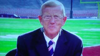 Funny Moments in Television - Lou Holtz Spit Fest