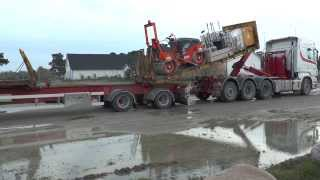 Scania hook lift loader machinery on a trailer 2013