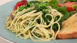 Rapini (broccoli rabe) with Pasta (Med Diet Episode 24)
