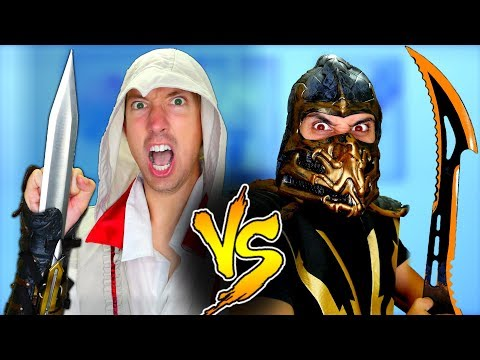 Mortal Kombat vs Assassin's Creed - Epic Weapon Battle Challenge