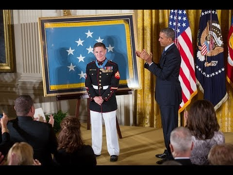 "The President Awards the Medal of Honor to Corporal William ""Kyle"" Carpenter"