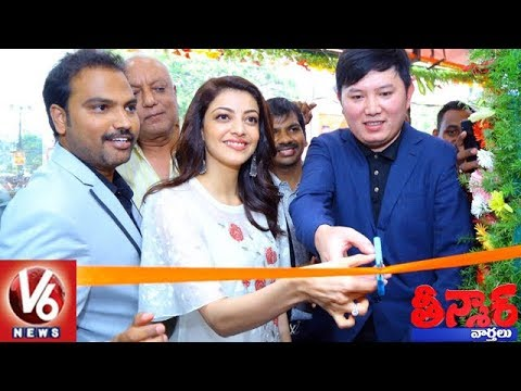 Actress Kajal Aggarwal Launches Happi Mobiles Store In Karimnagar | Teenmaar News | V6 News