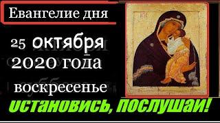 Евангелие дня Апостол Церковный календарь(25 октября воскресенье) Катихизис Молитва от коронавируса