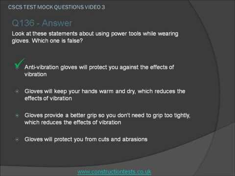 CSCS Mock Test Questions Video 3
