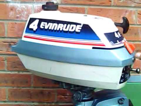 Evinrude 4hp 4 horse power outboard engine longshaft for for 4 horse boat motor