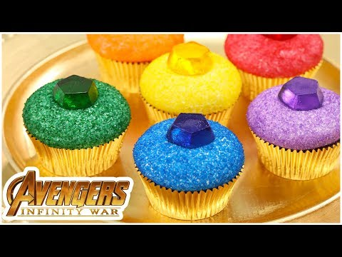 AVENGERS INFINITY STONE CUPCAKES - NERDY NUMMIES