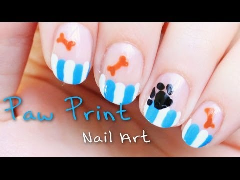 Dog Paw Nail Art and Help Stop Abuse Towards Animals
