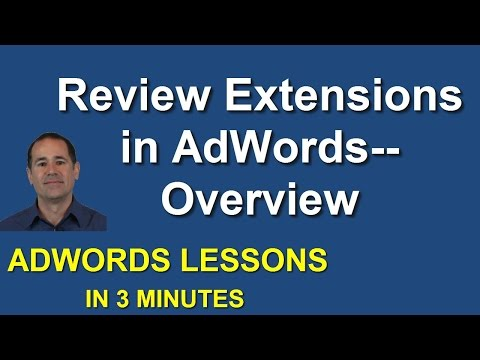 Overview of Review Extensions in Adwords