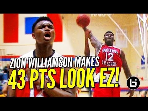 Zion Williamson Makes 43 Points Look EASY! Raw Game Highlights!