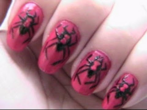 Black Widow Nails- Halloween Nails