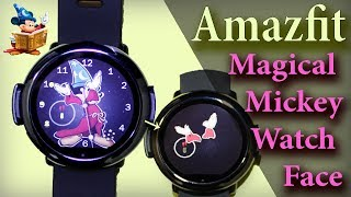 Amazfit - Magical Mickey custom watch face for amazfit pace
