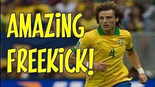 DAVID LUIZ FREEKICK VS COLOMBIA WORLD CUP 2014 RE-MAKE! | AMAZING KNUCKLEBALL