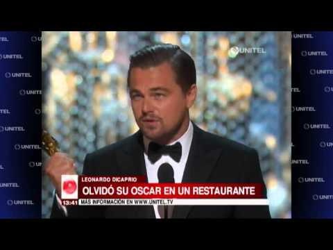 VIDEO: Dicaprio olvida su Oscar en un restaurante