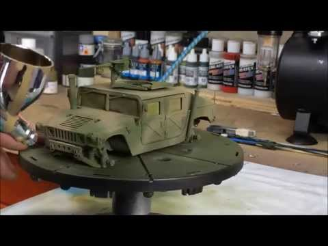 Airbrushing Camo On The M1025 Armored Carrier