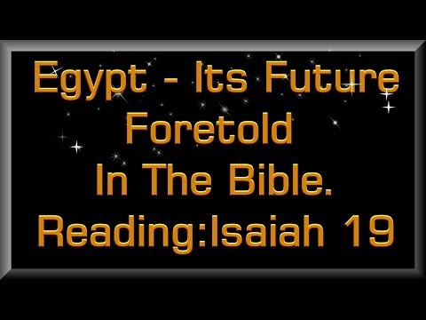 Egypt: it's future foretold in Bible Prophecy - Mr Phil Hunter, Perth Christadelphians