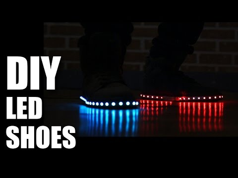Mad Stuff With Rob - How To Make DIY LED Shoes   New Years Special