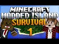 "Minecraft Survival Island Mods Ep. 1 ""MEROME THE GOAT"" W BajanCanadian! 