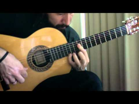 Flamenco Tremolo Exercise - 4 (Solea by Paco Pena)