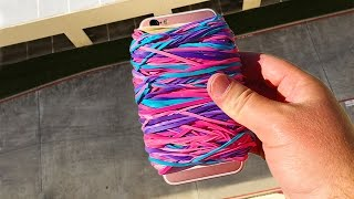 Can Rubber Band Case Save iPhone 6s from 100 FT Drop?