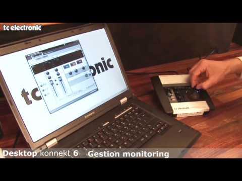 interface audio Desktop Konnekt 6 de TC Electronic : gestion du monitoring