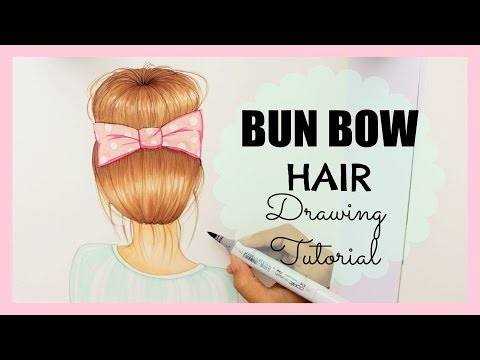 How to draw girls hair