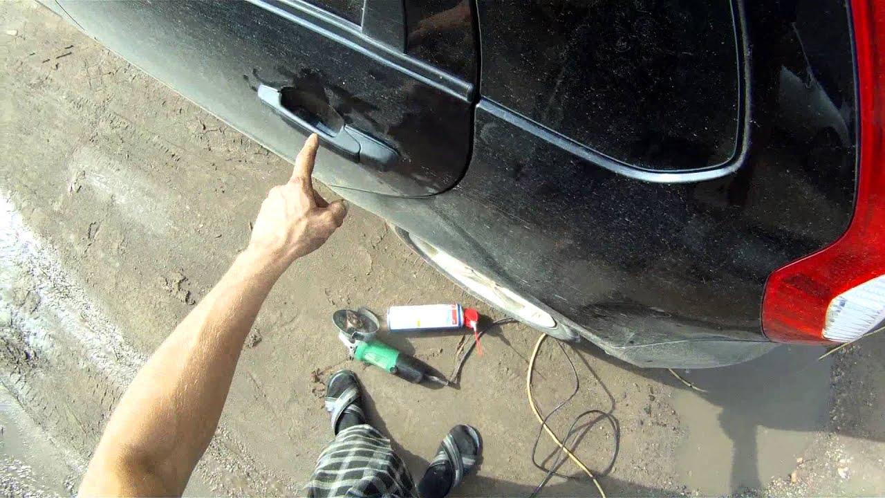Как сделать ремонт двери машины